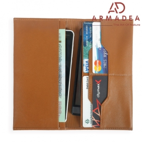 100% Genuine Leather Long Special Double Mobile wallet