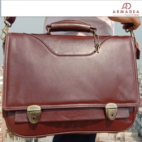 100% Genuine Leather Smart Official Bag