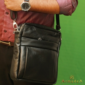 Messenger Bag For Men with Genuine Leather