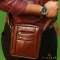 Mini Messenger Bag For Biker with Genuine Leather