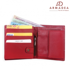 100% Genuine Leather Stylish Wallet with Coin Pocket