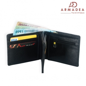 100% Genuine Leather Stylish Double Wallet(3 part)