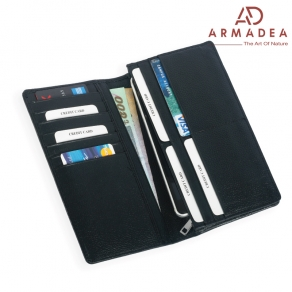 100% Genuine Leather High Quality Smart Long Wallet