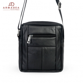 Mini Biker Bag with Genuine Leather
