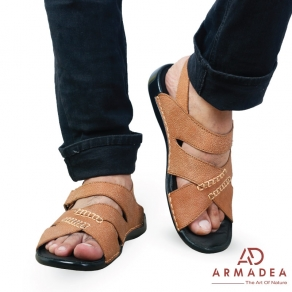 New Stylish Leather Casual Sandal For Men