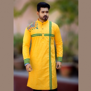 Fashionable Men's Semi Long Panjabi