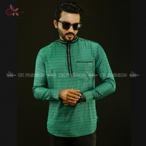 Light Green Color Embroidered Men's Katua