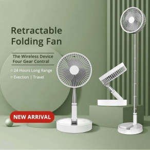 Telescopic Rechargeable Mini Folding Stand Fan Up to 40
